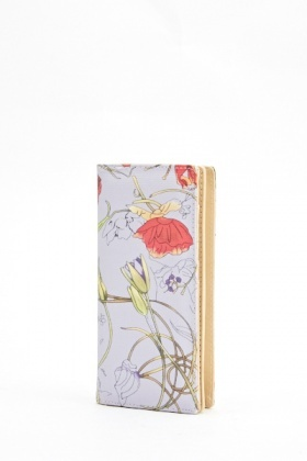 Floral Brush Print Wallet