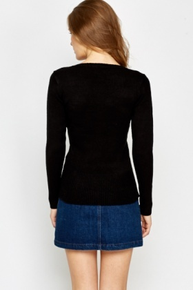 Low V-Neck Jumper