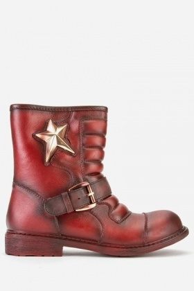 Star Encrusted Ankle Boots