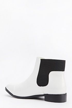Elasticated Side PVC Ankle Boots