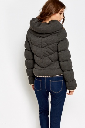 Quilted Padded Chain Trim Jacket
