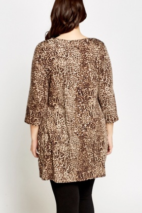 Brown Leopard Print Tunic