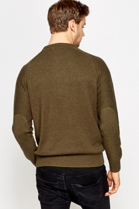 Elbow Patch Insert Jumper