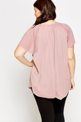 Flare Sleeve Pleated Tunic