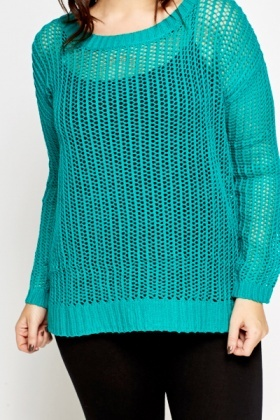 Perforated Knit Jumper