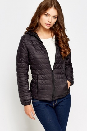 Black Quilted Padded Coat - Just £5