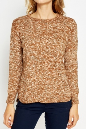 Brown Speckled Jumper
