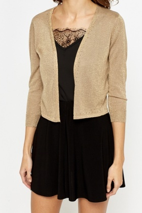 Gold Metallic Cardigan - Just £5