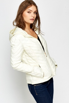 Quilted Puffer Hooded Jacket