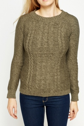 Round Cable Knit Jumper