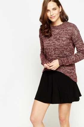 Speckled Dip Back Jumper