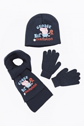 George Pig Hat Scarf And Gloves Set