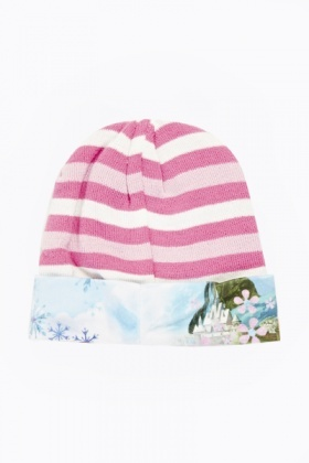 Striped Frozen Beanie