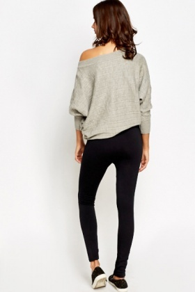 Zip Detail Fleece Leggings