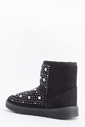 Diamante Front Winter Boots