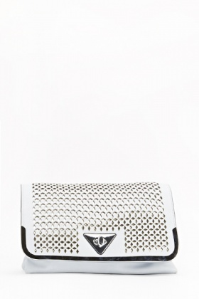 Holographic Cut Out Clutch Bag