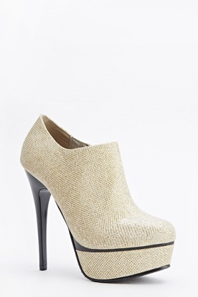 Lurex High Heeled Ankle Boots