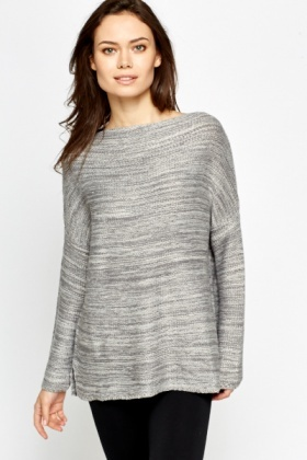 Contrast Striped Loose Fit Jumper