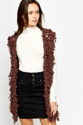 Looped Knitted Gilet