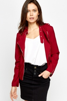 Studded Neck Casual Jacket