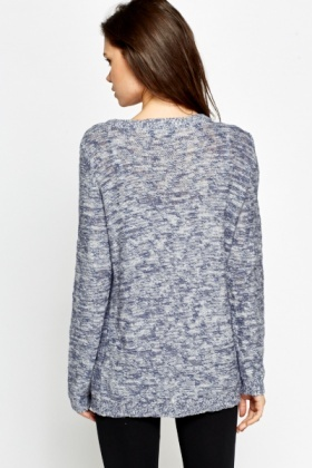 Wrap Front Speckled Jumper