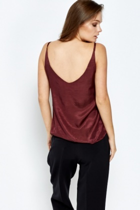 Burgundy Cami Top