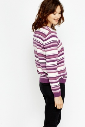 Chunky Knit Striped Jumper