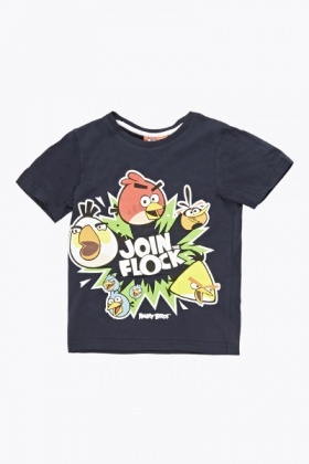 Dark Navy Angry Birds T-Shirt