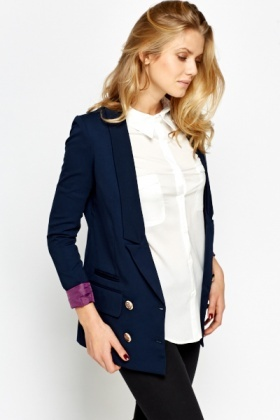 Double Breasted Low Blazer