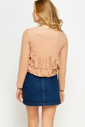 Fringed Cropped Jacket