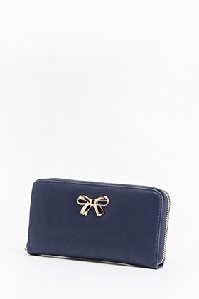 Gold Detail Bow Purse
