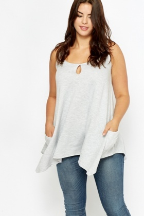 Light Grey Jersey Tunic