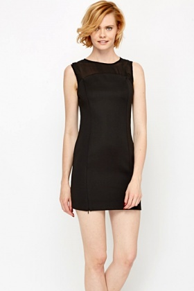 Mesh Yoke Party Dress