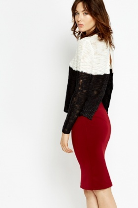 Mono Slit Back Knit Top