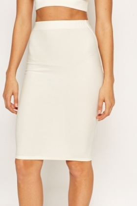 Off White Bodycon Skirt - Just £5