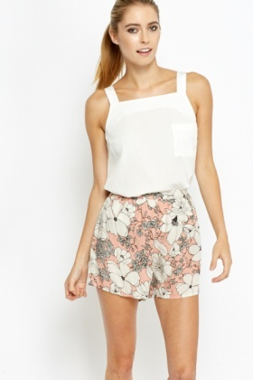 Off White Pocket Front Cami