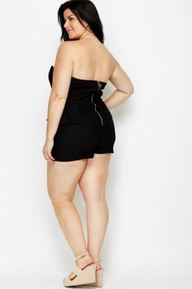 Peplum Black Playsuit