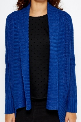 Perforated Knitted Cardigan