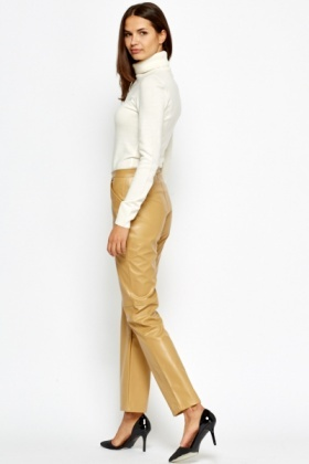 PVC Camel Straight Leg Trousers