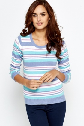 Stripe Ribbed Sweater