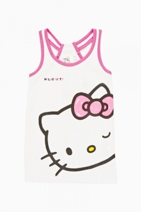 White Hello Kitty Top