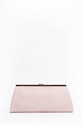 Faux Leather Gold Trim Clutch