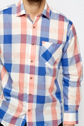 Blue Box Grid Shirt