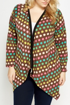 Polka Dot Open Cardigan