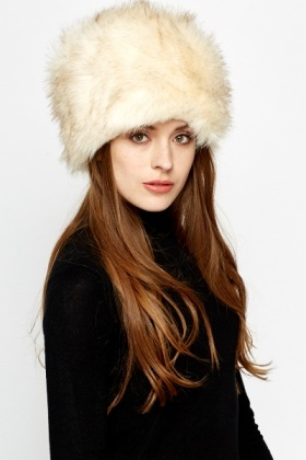 Faux Fur Pillbox Hat