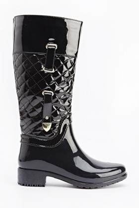 PU Quilted Boots