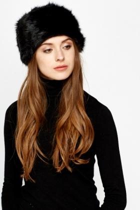 Winter Pill Box Faux Fur Hat - Just £5 c3515a16526