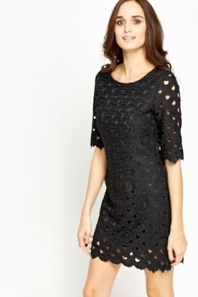 8e883e614f60 Heart Laser Cut Shift Dress - Just £5