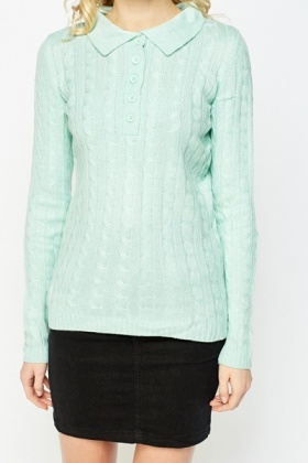 Collared Button Up Sweater