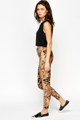 Fleece Animal Print Leggings